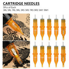 50pcs Mixed Assorted Disposable Tattoo Needle Cartridge Sterilized RL RS M1