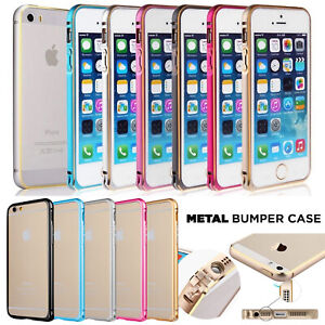 Aluminium Frame Metal Bumper Slim Case Cover For Apple iPhone 4 5 5s SE 6 Plus