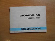 Manuale Conducente HONDA ss50 SS 50 (1974) Manuale d'uso