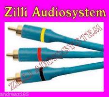 Phonocar 5/906 cavo Audio Video 5 mt. doppia schermatura conn. dorati Nuovo