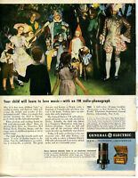 1943 Print Ad of GE General Electric Radio Phonograph Fairy Tales