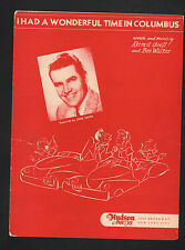 I Had A Wonderful Time In Columbus 1946 Jack Smith Sheet Music
