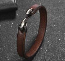 Lederarmband Herren Vintage ECHT  Leder Männer Armband braun weiß  Neu A14