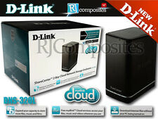 D-Link ShareCenter 2 Bay Cloud Network Storage Enclosure DNS-320L NAS Server NEW
