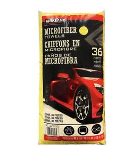 Kirkland Signature Ultra Plush Microfiber Towels 36 Pack, Yellow
