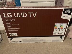 LG 43UP75006LF (2021) LED HDR 4K Ultra HD Smart 43 inch TV Freeview Freesat HD