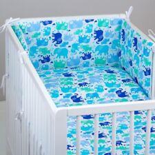 2-6 Piece Baby Nursery Bedding Set 120x90 or 135x100 -Antiallergic-Blue Elephant