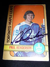 72-73 OPC #126 Paul Henderson Hand-signed Autograph AUTO * The Summit Goal year
