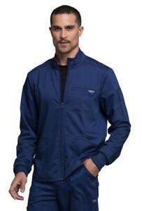 Cherokee Workwear Revolution WW320 Men's Zip Front Scrub Jacket -NEW-FREE SHIP