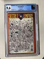 Secret Empire #1 CGC 9.6 Todd Nauck Sketch Variant Avengers Marvel Comics
