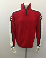 Cherokee Men's Xlarge Long Sleeve Red White And Black  Heavy Pullover Sweater