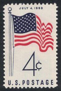 Scott 1153- 50 Star U.S. Flag, July 4th- MNH 4c 1960- unused mint stamp