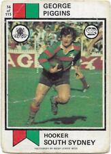 1974 Nrl Rugby League Scanlens (56) George PIGGINS South Sydney *