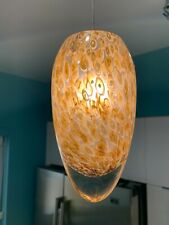 LBL Lighting Sam Monorail Pendant HS228 Opal Amber Blown Glass Used