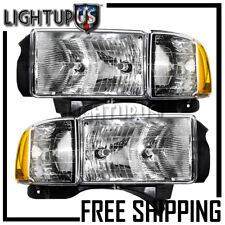 1999-2002 Dodge Ram Sport Left Right Sides Pair Corner Lights with Headlights
