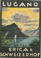 c Hotel Beau Rivage ~MONTE CARLO~ Seldom Seen Early Luggage Label 1925