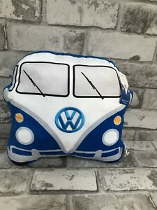 Volkswagen Blue Campervan Cushion official licensed NEW gift plush