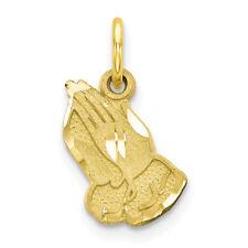 10K Gold Praying Hand Charm Pendant (yellow-gold) MSRP $94