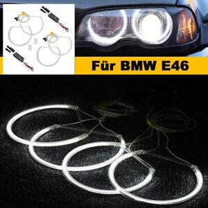 2x146mm+2X131mm CCFL Angel Eyes Standlichtringe LED Ringe Standlicht für BMW E46