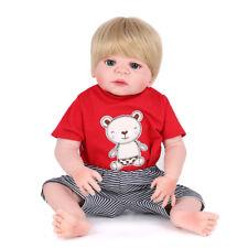 22'' Full Vinyl Silicone Reborn Baby Doll 55cm Handmade Lifelike Newborn Boy Toy