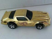 HOT WHEELS CAMARO Z28 DRAGON FIRE GOLD CHROME 1982 DIECAST CAR