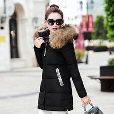 Women Jacket Winter Long Down Jacket Padded Coat Ladies Slim Hooded Parka#1608