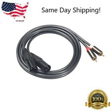 5 FT Pro Audio Dual XLR Male to 2-RCA Male Stereo Plug Shielded Patch Cable Cord