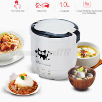 1L Mini Rice Cooker Food Electric Steamer Portable Cooking Home Car Outdoor