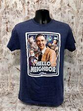 PBS Mister Mr. Rogers Hello Neighborhood Navy Men's Vintage Style T-Shirt NWOT