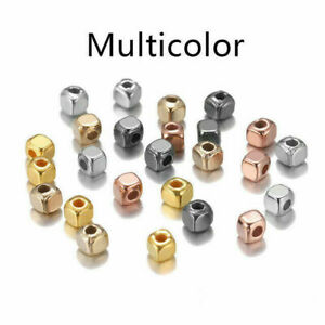 300/500pcs Square Bulk Loose Spacer Beads Seed For DIY Bracelet Jewelry Making