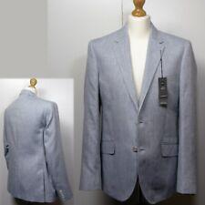 Neues AngebotM&s Tailored Fit Leinen Wunder Blazer Jacke ~ Gr. 52 Med ~ hellgrau
