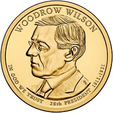2013 WOODROW WILSON PRESIDENT DOLLAR P or D MINT 1-COIN BRILLIANT UNCIRCULATED