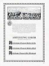 Hotel Kloster Heisterbach Königswinter XL Reklame 1929 Restaurant Werbung +