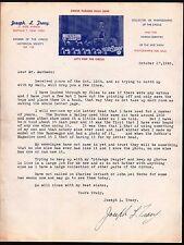 1945 Buffalo NY - Circus - Joseph L Tracy - Collector of Photographs Letter Head
