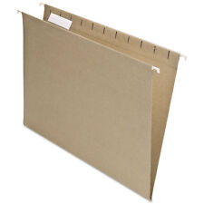 Pendaflex Earthwise Recycled Colored Hanging File Folders 1/5 Tab Letter Natural