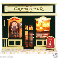 DIY Handcraft Miniature Project Wooden Dolls House European Shop The Cake Lounge