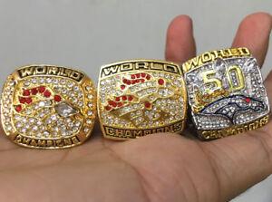 1997 1998 2015 Denver Broncos Football Team Ring Souvenirs Manning Fan Men Gift