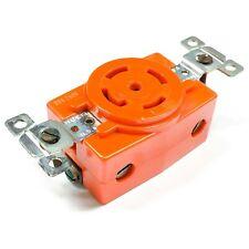 3550-CR Bryant Single Orange Receptacle, 30A, 600V