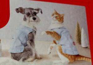 Wondershop Pet Denim Sherpa Jacket Snap Shut Dogs & Cats Up To 10lbs XSmall