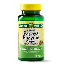 New Spring Valley Papaya Enzyme Complex Tablets 180 Ct