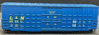 ROUNDHOUSE: L&N #402211 PLUG DOOR BOXCAR VINTAGE HO SCALE, H0, BLUE