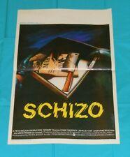 original SCHIZO Belgian movie poster