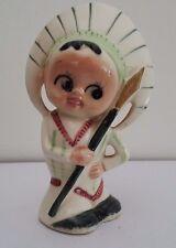Vintage American Indian Googly Eye Salt Shaker - Japan
