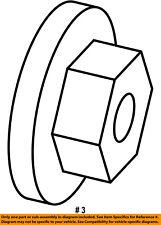 6506454AA, CHRYSLER OEM-Axle Nut