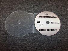 2012 Jeep Grand Cherokee Shop Service Repair Manual DVD Laredo Limited Overland