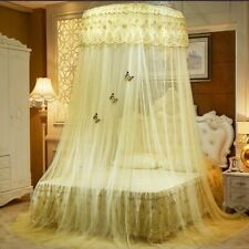 Princess Round Dome Mosquito Lace Canopy Hung Bed Insect Nets Curtains Pink Blue