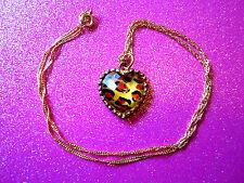 Leopard Heart Necklace