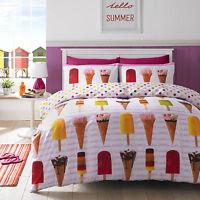 #Bedding Fresh Summer Popsicle Ice Cream Lolly Polka Dot Quilt Duvet Cover Set
