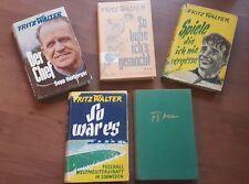 Fritz Walter Büchersammlung 1954 - 1964 ( 2 Bücher sind signiert)