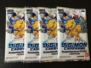 Digimon Card Game 2020 Promotion Pack Ver 0.0 x 4